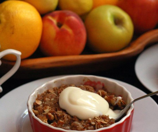 Breakfast Peach Crisp for Two