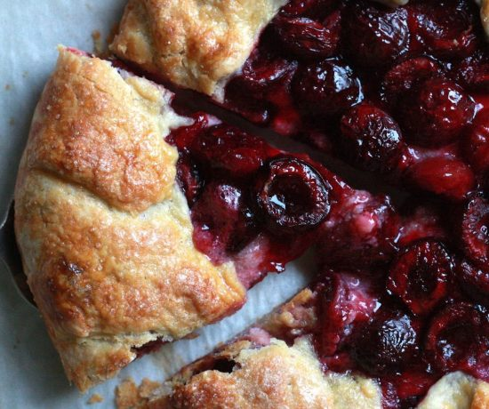 Black Cherry and Ricotta Galette