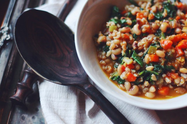 Ethiopian Black-eyed Pea Stew with Farro and Swiss Chard - Supper With Michelle