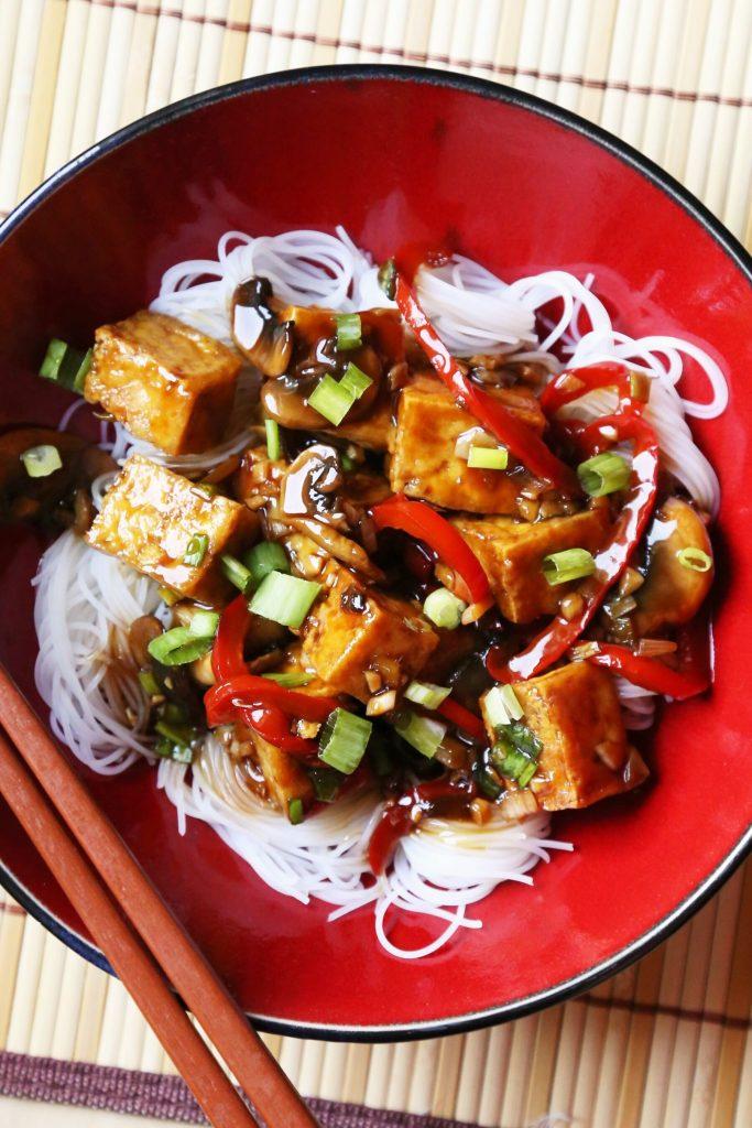 Tofu Stir-fry in Sweet Brown Sauce