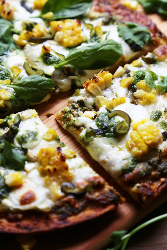 Summer Spinach Pesto Pizza - Amys Kitchen - Supper With Michelle