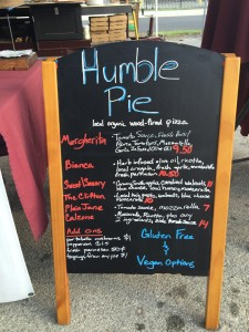 Humble pie food truck menu