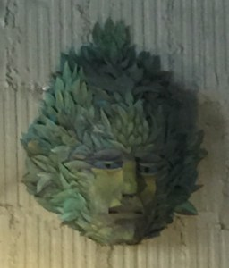 The Green Man can be seen all over Asheville.