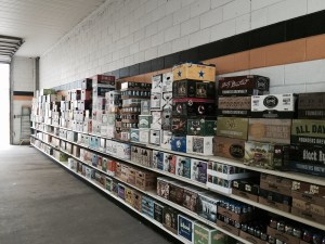 Craft beer wall at beer distributor in Meadville PA