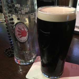 My second draft of the night was a Guiness, pictured with the Swag.