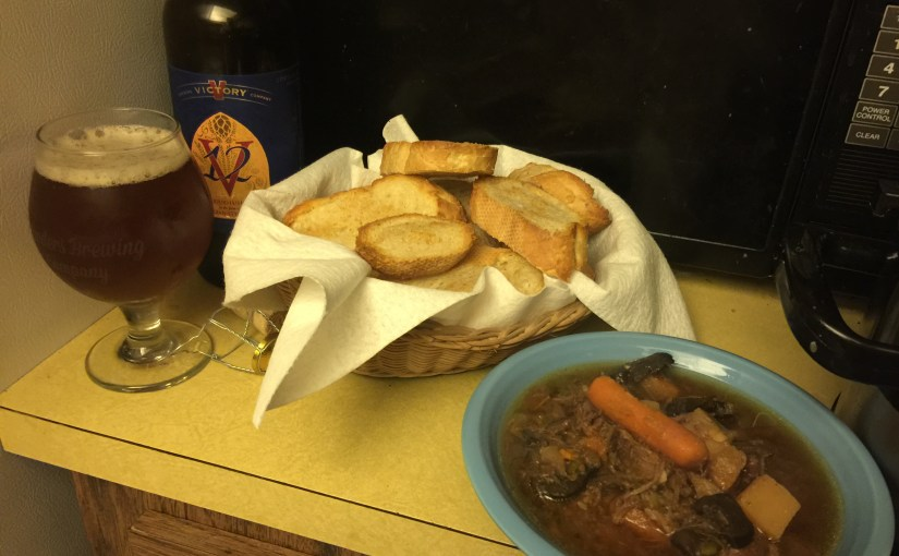 Homemade Belgian, Mushroom and Beef Stew – In With the Cold & Out Comes the Crockpot