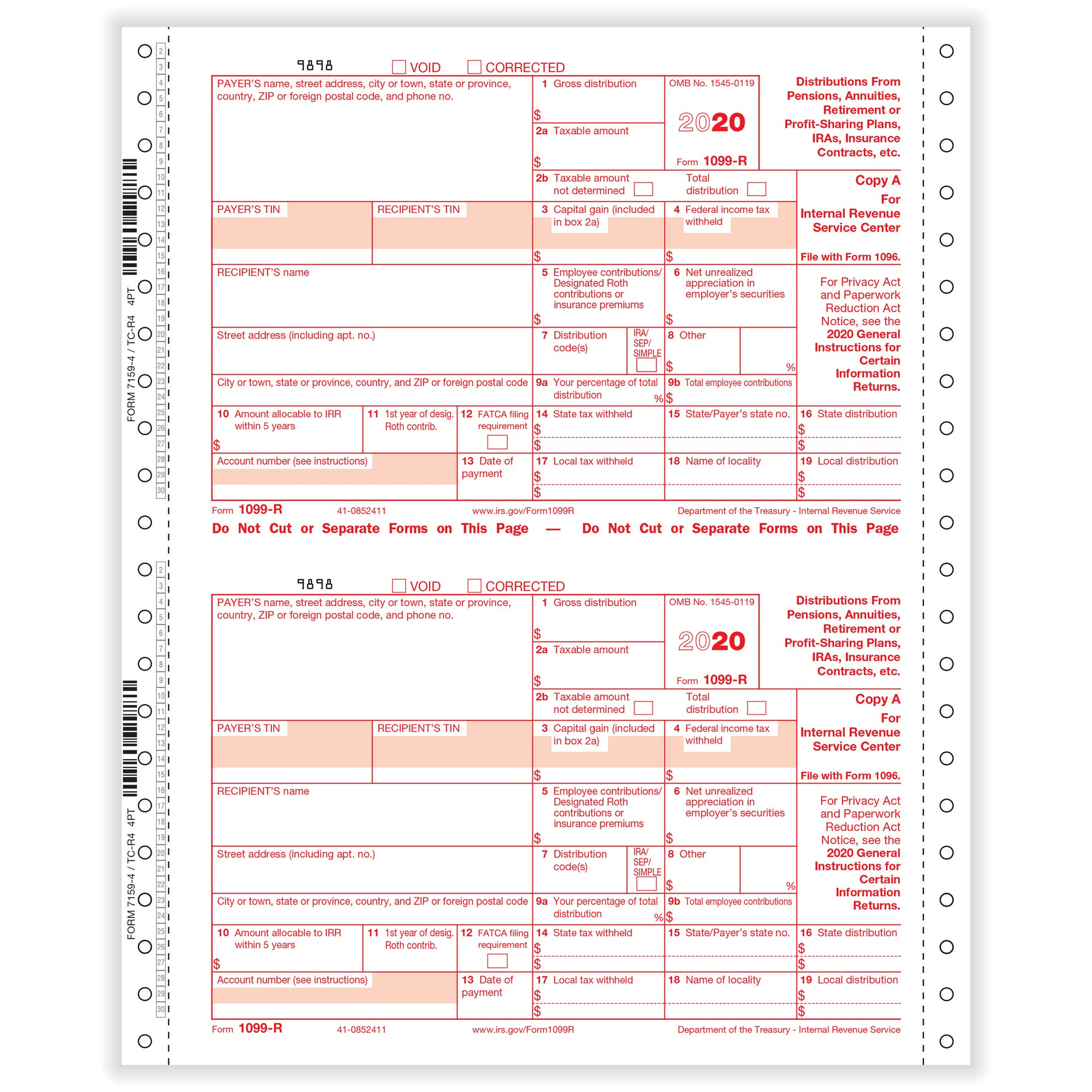 R Retirement 4 Part 1 Wide Carbonless Dated 200