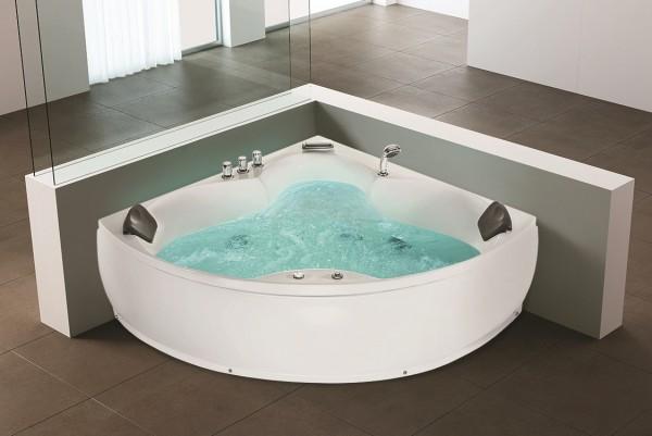 Whirlpool Edge Bath Tub Monaco 12 Massage Jets LED