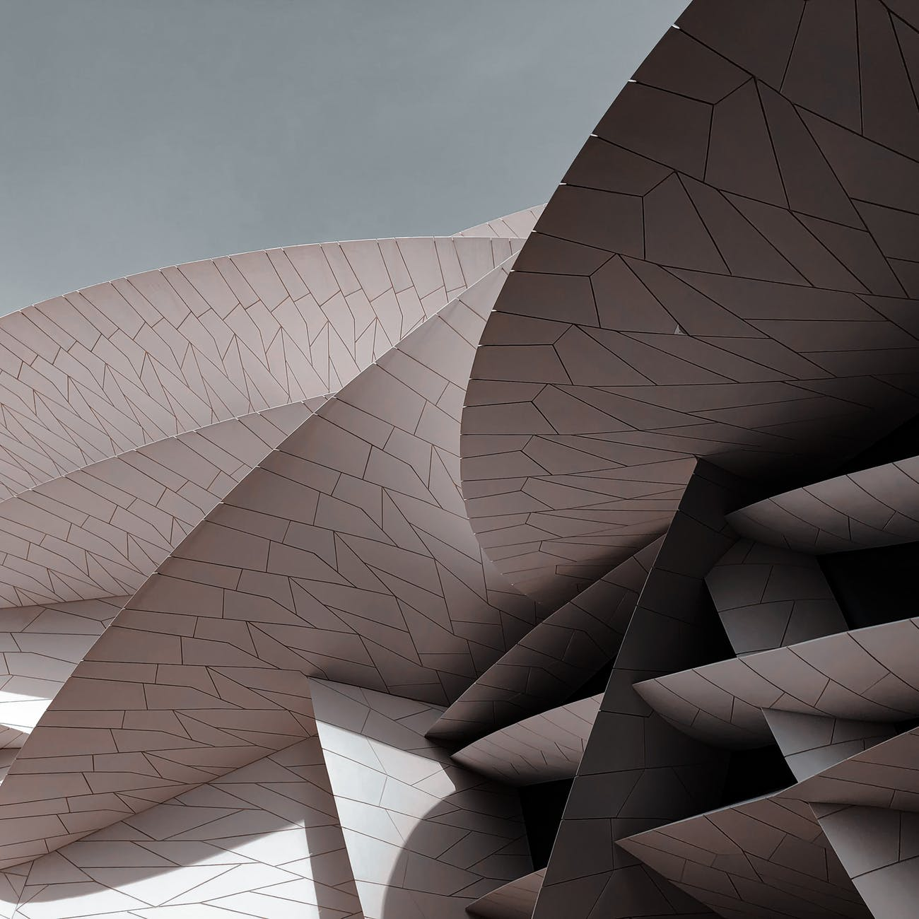 futuristic modern building with unusual details