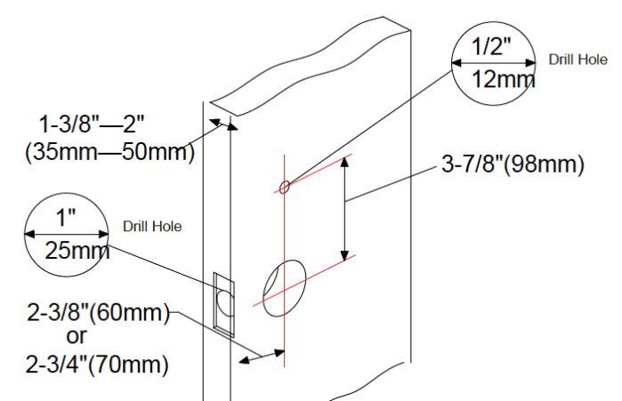 Lockly Smart Home Lock Installation Door Prep