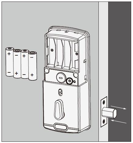 Lockly Smart Lock Installing Batteries