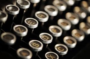 Antique typewriter, English Literature