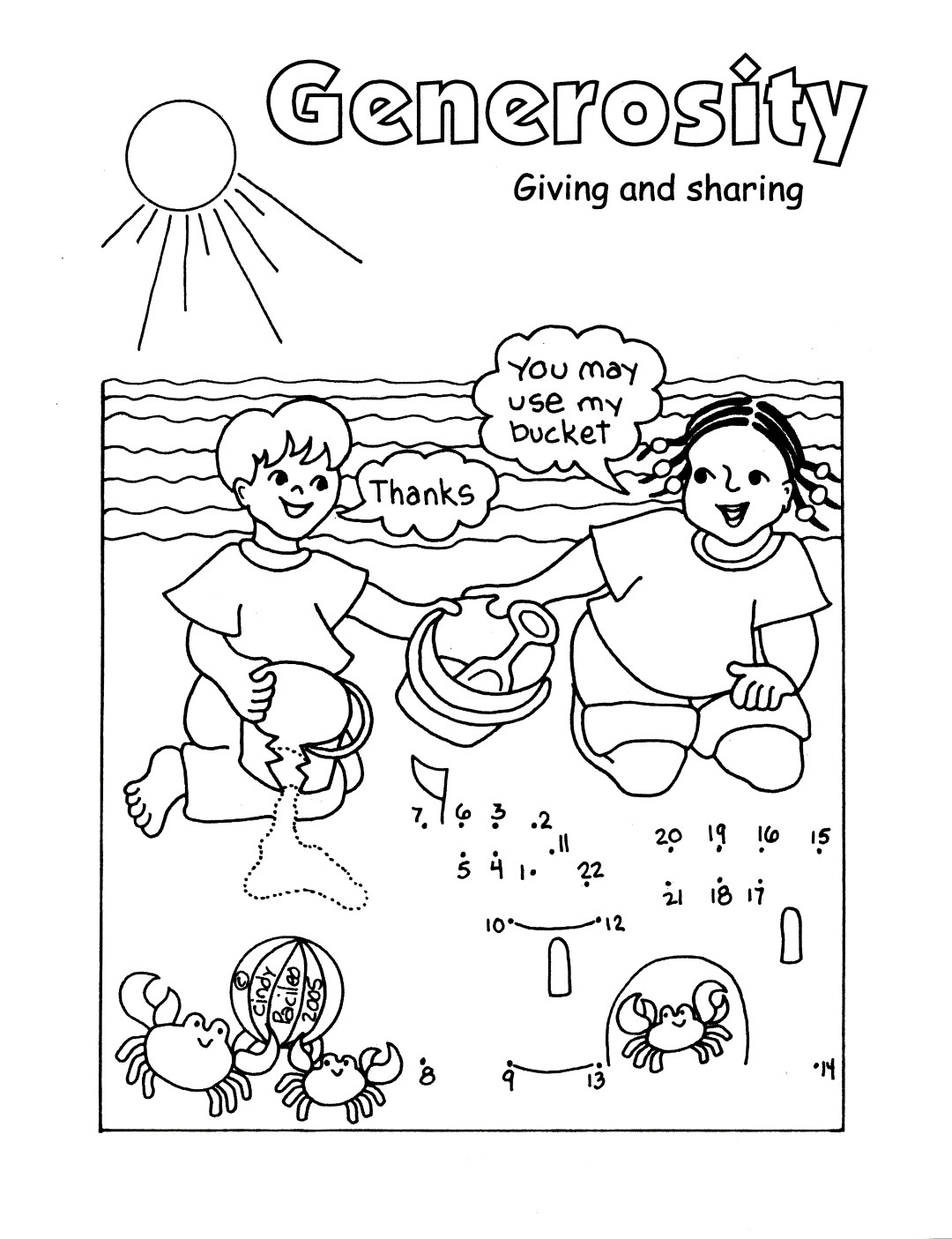 Generosity - giving and sharing