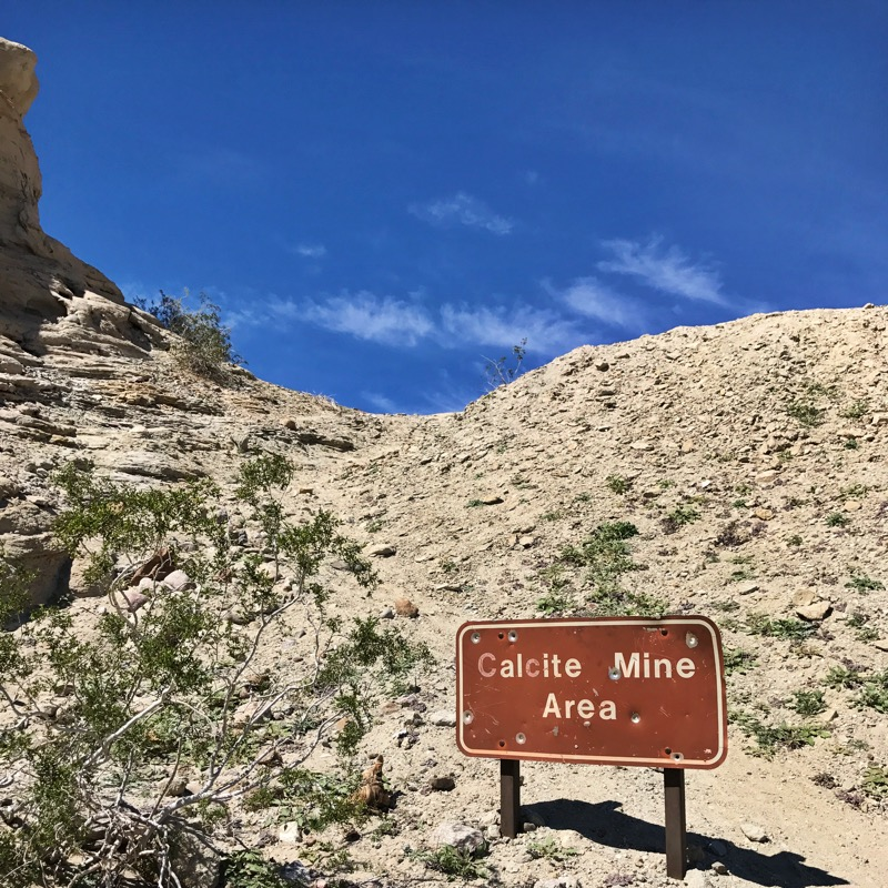 Turnoff To The Calcite Mine Area