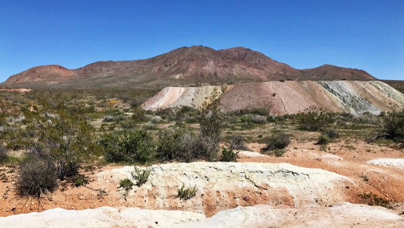Tailings And Mineral Deposits At Red Mountain On Hwy 395
