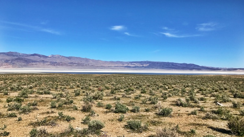 Owens Lake And Salt Flat East Of Hwy 395
