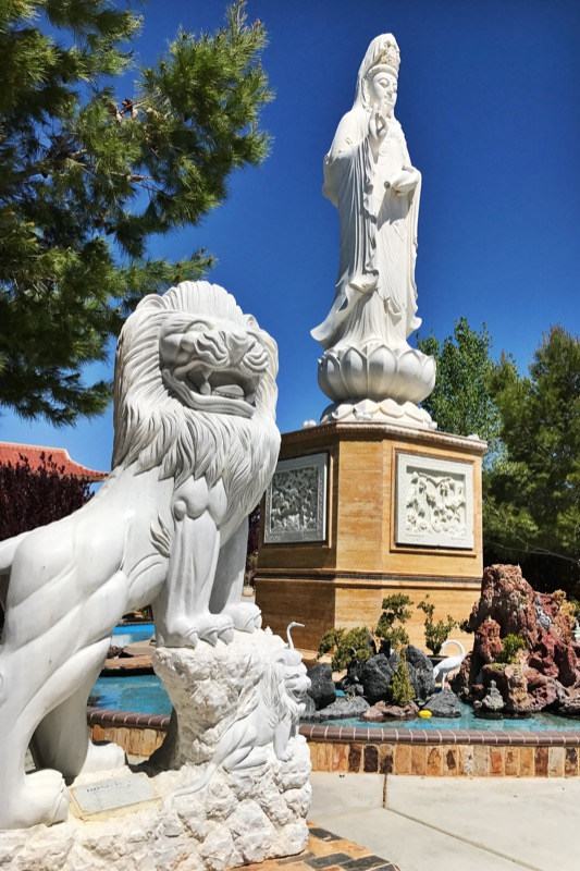Kwan Yin And Attendant At The Thien Vien Chan Nguyen Buddhist Meditation Center In Adelanto, CA