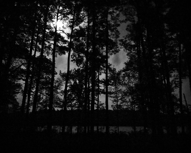 Moon Over Upper Caney Lake