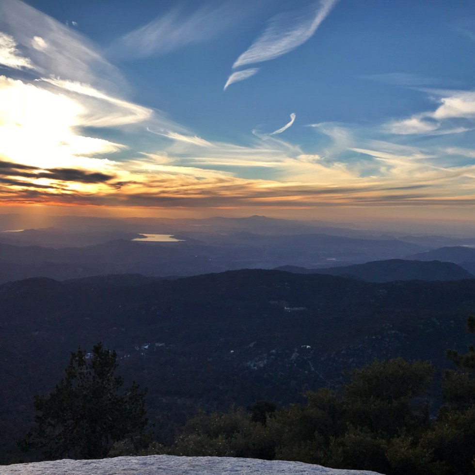 Sunset From Tahquitz Peak In California Section B
