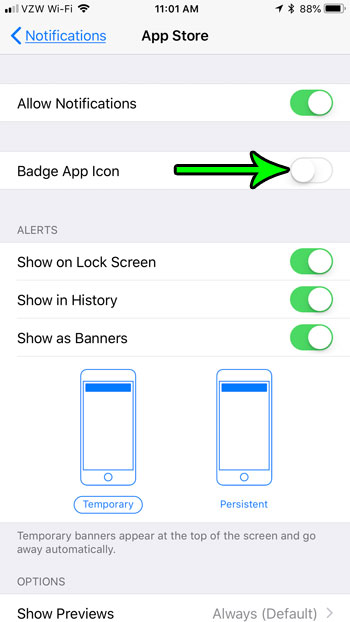 what is a badge app icon on an iphone 7
