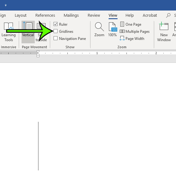 how to remove gridlines in microsoft word