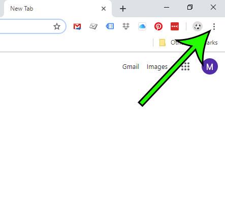 open the Google Chrome menu
