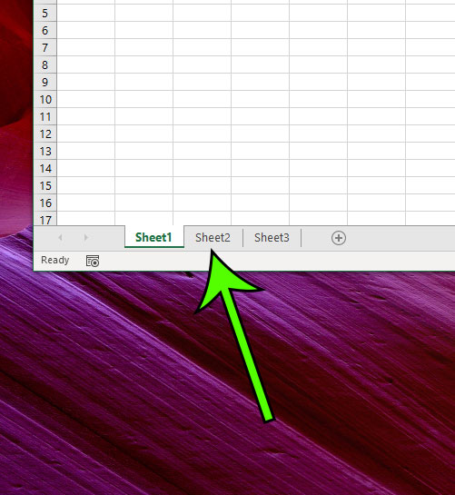 locate your worksheet tabs