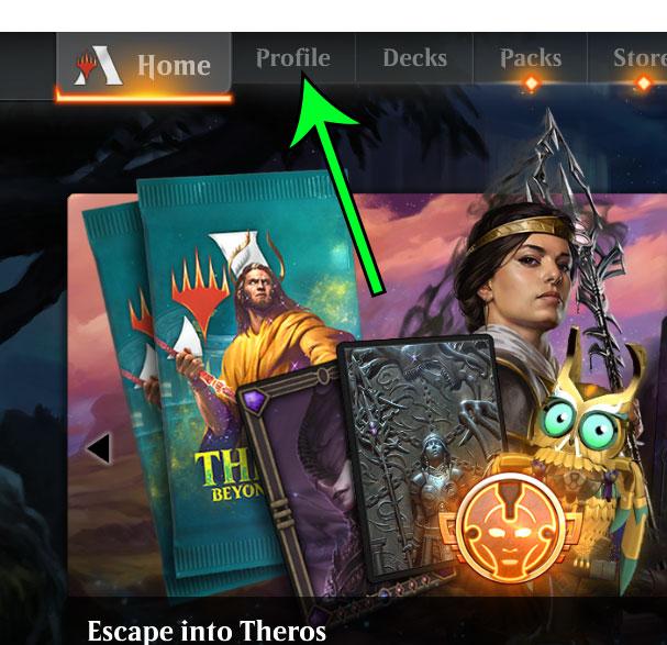 click the Profile tab