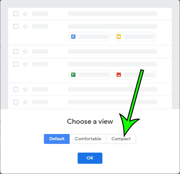 how to show more emails on the screen at once in Gmail