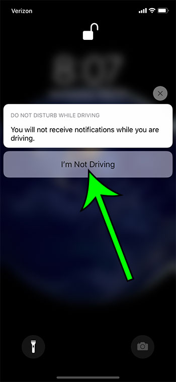 how to turn off Do Not Disturb While Driving on an iPhone