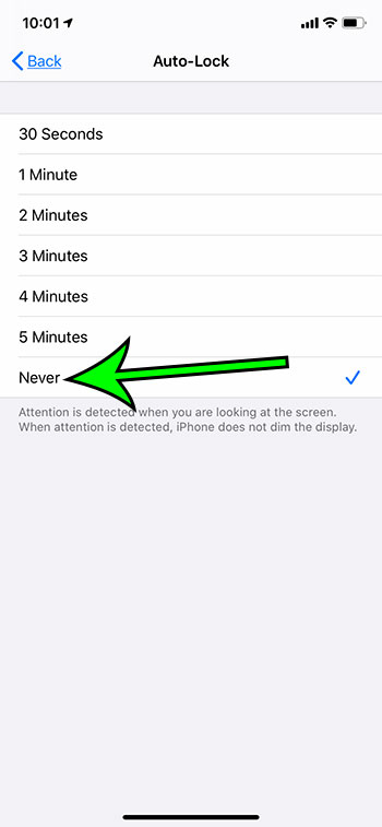 how to keep iPhone screen on