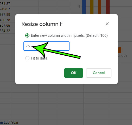 how to adjust column width in Google Sheets