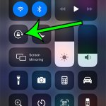 how to turn off iPhone rotation lock