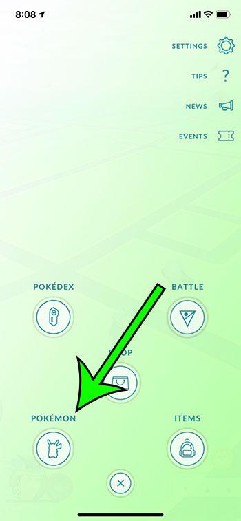 select the Pokemon option