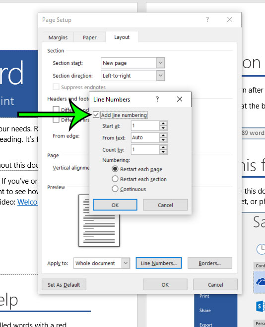 Add Line Numbers In Word : numbers, Numbers, Office, Support