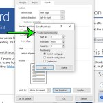 how to add line numbering in Microsoft Word