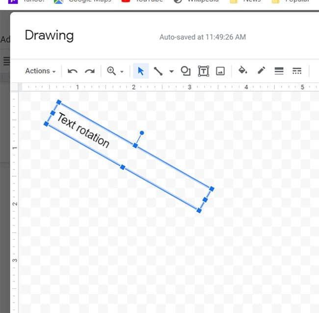 how to rotate text in Google Docs