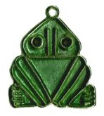 greenstone frog in triangular shape
