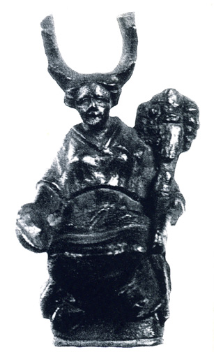 seated bronze statuette