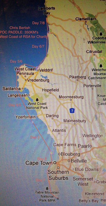 West Coast Map South Africa.Chris Bertish S Wild South African Sup Adventure Crazy