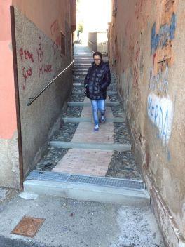 Small F Salita Lorenzo Cappelloni con la nuova pavimentazione x la notizia flash