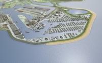 Small Maasvlakte 2 – Vista aerea con la nuova spiaggia