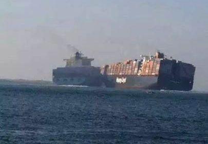 Il momento del contatto fra le due navi