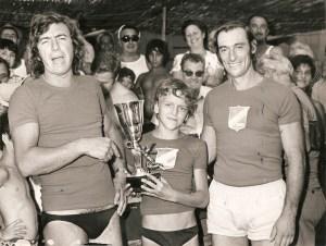 Careuxo (a sinistra) con il mitico Pino Voenollo sul mucchio