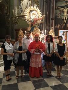 Il Cardinale Angelo Bagnasco nella Chiesa di N.S. Assunta di Palmaro.
