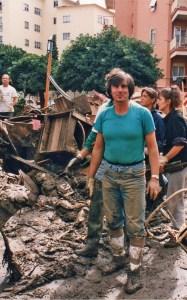 3 Alfredo nel pantano dell'alluvione del '93 a Pra'