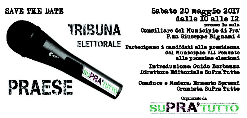 TRIBUNA ELETTORALE PRAESE – Save the date