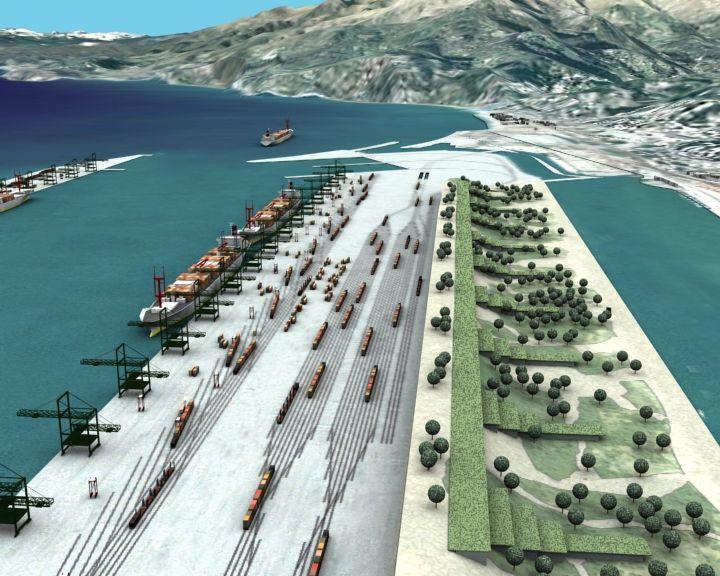Il porto di Pra' cob B.R.U.C.O. vista da levante