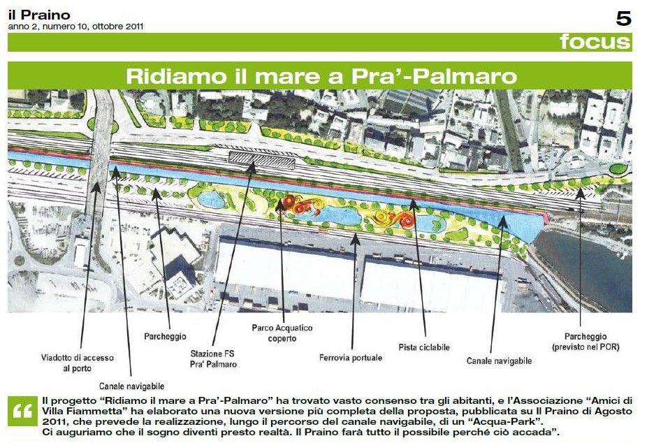 Il bozzetto di Fabio Currò del 2011 per un acqua park a Pra' – Palmaro