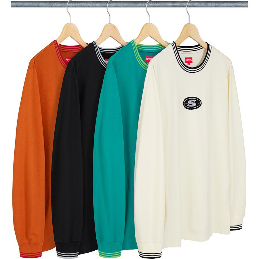 Striped Rib Logo L/S Top